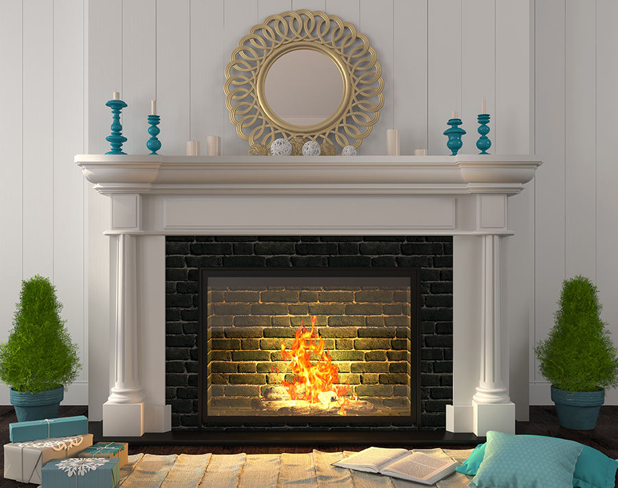 brick fireplace1