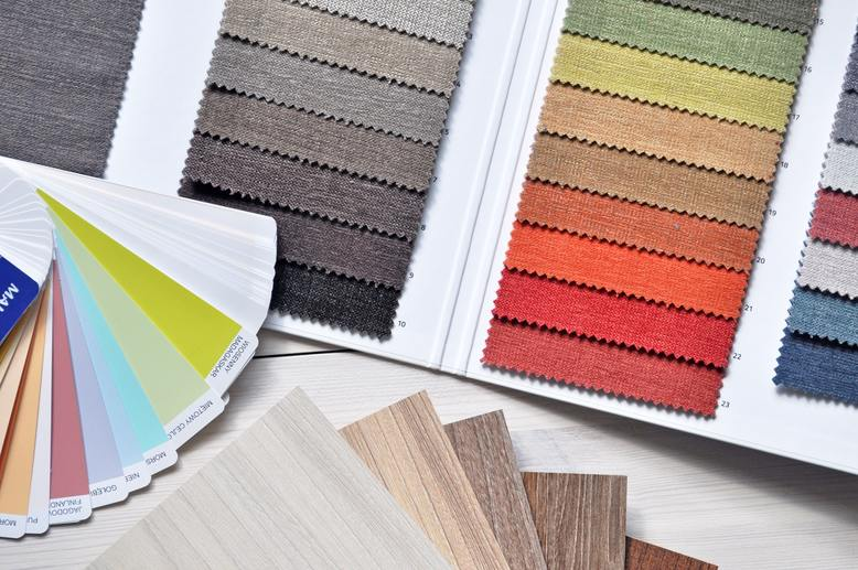 selection of paint colors for interior painting project